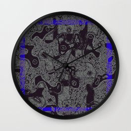 frame blue Wall Clock