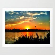 Tidewater Sunset  Art Print
