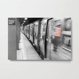 New York City Subway (Broadway Station) Metal Print