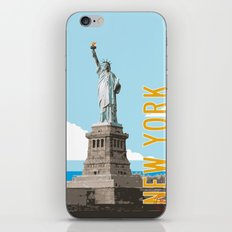 New York Travel Poster iPhone & iPod Skin