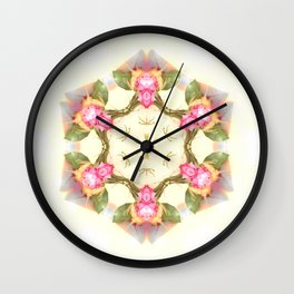tea in the rose garden Wall Clock