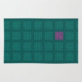 Tic Tac Toe Pattern Rug