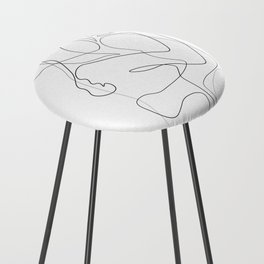 Lovers - Minimal Line Drawing Counter Stool
