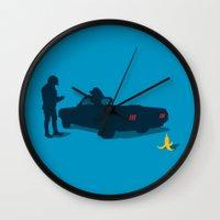 die hard Wall Clocks featuring Habits Die Hard by Vector Vectoria