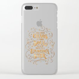 Dancing Star Clear iPhone Case