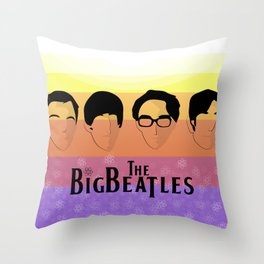 The Big Beatle Theory Throw Pillow