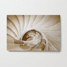 Sand stone spiral staircase 9 Metal Print