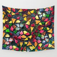 mosaic Wall Tapestries featuring Mosaic by Klara Acel