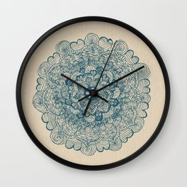 Embroidering With My Pencil  Wall Clock