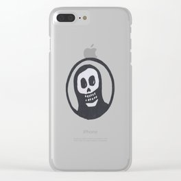 Sacred Punk Skull Clear iPhone Case
