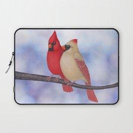 northern cardinals (bokeh) Laptop Sleeve