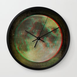 Stereo Moon Wall Clock