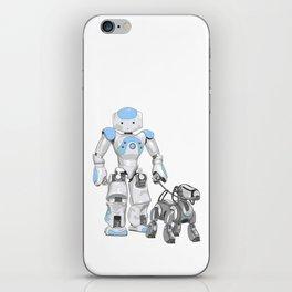 The Dog Walker. (Blue) iPhone Skin