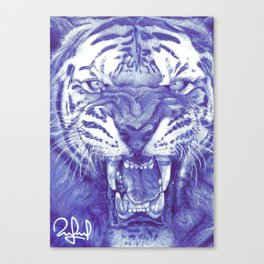 Roaring Tiger Canvas Print