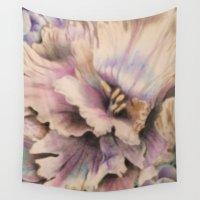 vintage floral Wall Tapestries featuring Vintage Floral by DesignCat