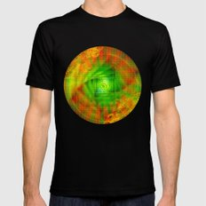 A Vintage Vortex Black MEDIUM Mens Fitted Tee