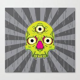 3 Eyed Jackass (green) Canvas Print