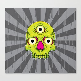 3 Eyed Jackass (green) Canvas Print