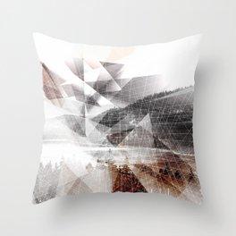 Geometric Donner Lake  Throw Pillow