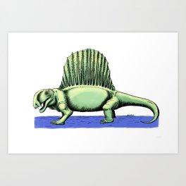 Polychrome Dimetrodon Art Print
