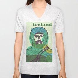 Ireland vintage travel poster print Unisex V-Neck