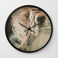 sister Wall Clocks featuring Sister Moon by Aimee Stewart