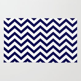 Simple Chevron Pattern - Blue & White - Mix & Match with Simplicity of life Rug