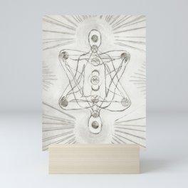 Samadhi white Mini Art Print