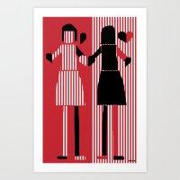 sisters Art Prints featuring sisters  by sladja