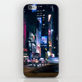 Neon Signs in New York, USA / Night City Series iPhone Skin