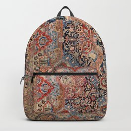 Persia Carpet 19th Century Authentic Colorful Black Blue Red Vintage Patterns Backpack