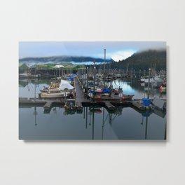 Boats on the Harbor in Petersburg, Alaska Metal Print