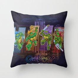 Ninja Teen Turtle Mutants xstat Throw Pillow