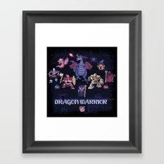 Warrior Dragon Framed Art Print