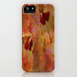 Vintage Soft Peach Glow Gladiola Abstract iPhone Case