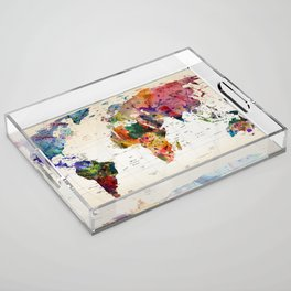 map Acrylic Tray