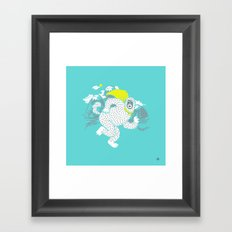 Save the Yeti Framed Art Print