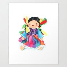 Little Mexican Doll Art Print