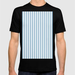 Regent St Blue Small Vertical Stripes   Interior Design T-shirt