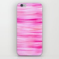 hot pink iPhone & iPod Skins featuring Hot pink by Retro Love Photography