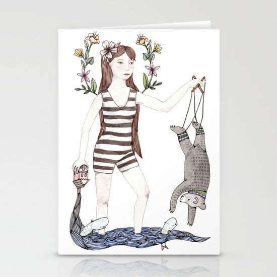 Dangle Bear Stationery Cards