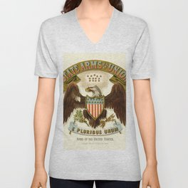 State arms of the union / 1876 Unisex V-Neck