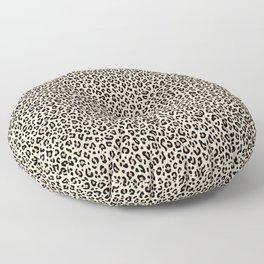 BLACK and WHITE LEOPARD PRINT – Ecru | Collection : Leopard spots – Punk Rock Animal Prints. Floor Pillow