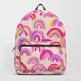 Abstract Rainbow Arcs – Pink Palette Backpack