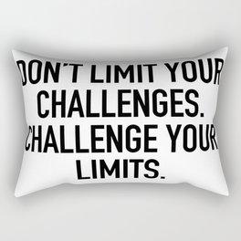 Don't limit your challenges. challenge your limits. Rectangular Pillow