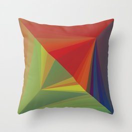 Abstract Composition 666 Throw Pillow