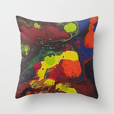 Abstract Colibrii. Throw Pillow