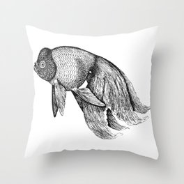 Vintage Golden Fish Throw Pillow