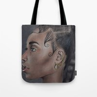 fka twigs Tote Bags featuring FKA Twigs by annelise johnson