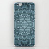 sci fi iPhone & iPod Skins featuring Future Sci Fi City by Phil Perkins